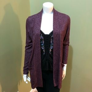 J Crew Long Cardigan in Purple